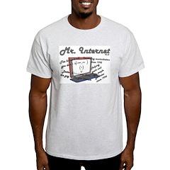 Mr. Internet Does it All Ash Grey T-Shirt