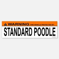 STANDARD POODLE Bumper Bumper Bumper Sticker