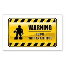 Warning Robot Rectangle Decal