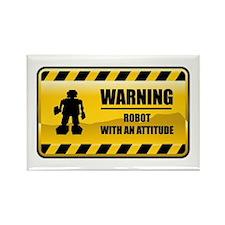 Warning Robot Rectangle Magnet