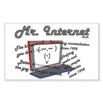 Mr. Internet Does it All Rectangle Sticker