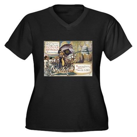Woman Suffrage Procession Women's Plus Size V-Neck