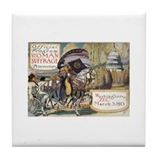 Woman Suffrage Procession Tile Coaster