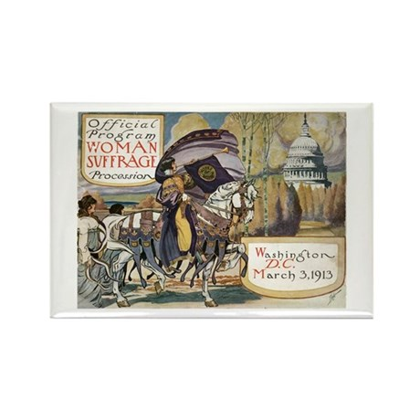 Woman Suffrage Procession Rectangle Magnet