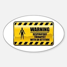 Warning Respiratory Therapist Oval Decal