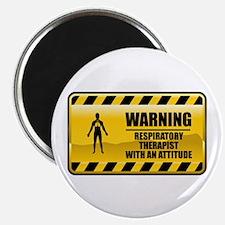 "Warning Respiratory Therapist 2.25"" Magnet (1"