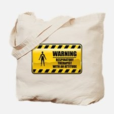 Warning Respiratory Therapist Tote Bag