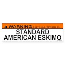 STANDARD AMERICAN ESKIMO Bumper Bumper Sticker