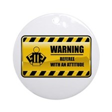 Warning Referee Ornament (Round)
