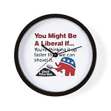 Liberals think, and we shovel Wall Clock