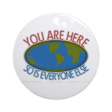You Are Here Environmental Ornament (Round)