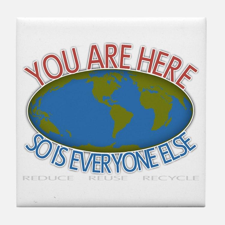 You Are Here Environmental Tile Coaster