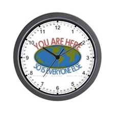 You Are Here Environmental Wall Clock