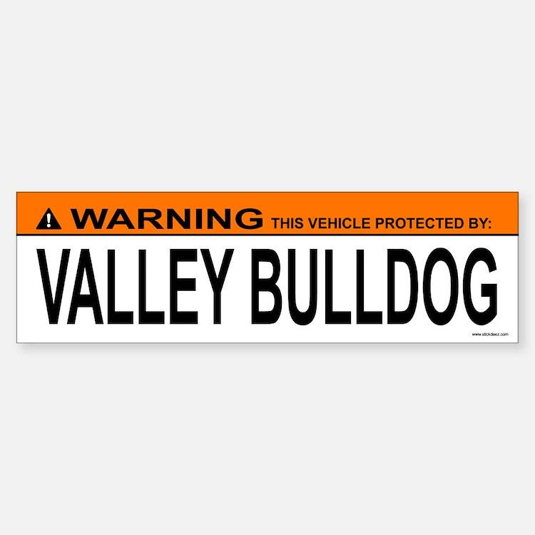 VALLEY BULLDOG Bumper Bumper Bumper Sticker