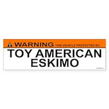 TOY AMERICAN ESKIMO Bumper Bumper Sticker