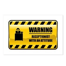 Warning Receptionist Postcards (Package of 8)