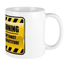 Warning Receptionist Mug