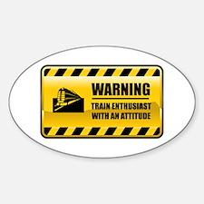 Warning Rain Enthusiast Oval Decal