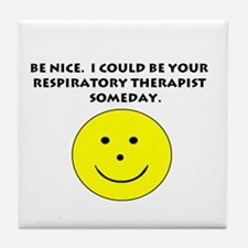 Respiratory Therapist Gifts Tile Coaster