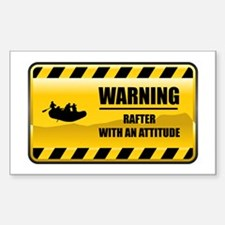 Warning Rafter Rectangle Decal
