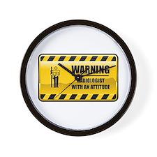 Warning Radiologist Wall Clock