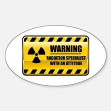 Warning Radiation Specialist Oval Decal
