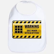 Warning Quilt Maker Bib
