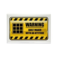 Warning Quilt Maker Rectangle Magnet