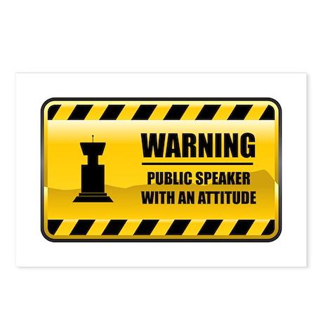 Warning Public Speaker Postcards (Package of 8)