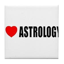 I Love Astrology Tile Coaster