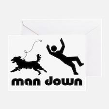 man down springer Greeting Card