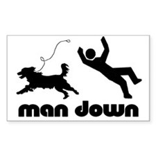 man down springer Rectangle Decal