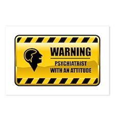 Warning Psychiatrist Postcards (Package of 8)