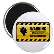 """Warning Psychiatrist 2.25"""" Magnet (10 pack)"""