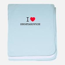 I Love SHOSTAKOVICH baby blanket
