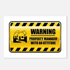 Warning Property Manager Postcards (Package of 8)