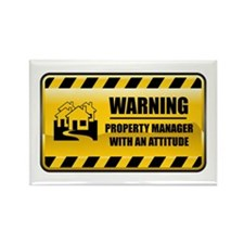 Warning Property Manager Rectangle Magnet