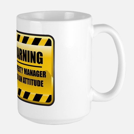 Warning Property Manager Large Mug