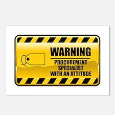 Warning Procurement Specialist Postcards (Package