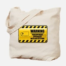 Warning Procurement Specialist Tote Bag