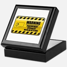 Warning Procurement Specialist Keepsake Box