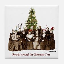 Rockin' Christmas Tile Coaster