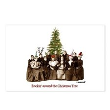 Rockin' Christmas Postcards (Package of 8)
