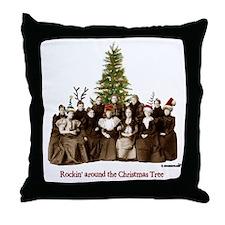Rockin' Christmas Throw Pillow