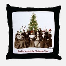 Rockin' Christmas Throw Pillow