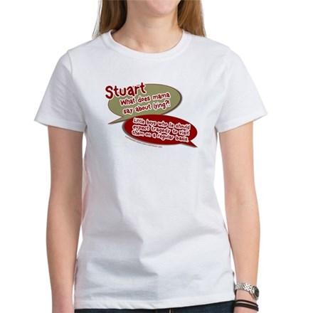 Stuart - What does mommy say. Womens T-Shirt