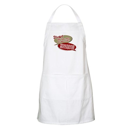 Stuart - What does mommy say. BBQ Apron