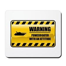 Warning Powerboater Mousepad