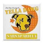 Yella Dawg Sarsaparilla Tile Coaster