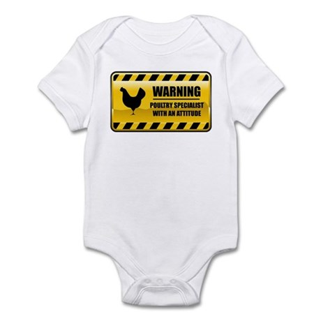 Warning Poultry Specialist Infant Bodysuit